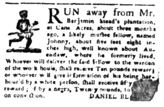 Jun 1 - South Carolina Gazette Slavery 3