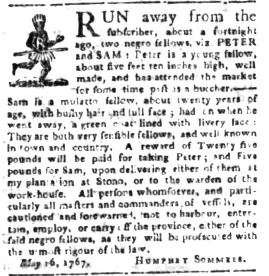 Jun 1 - South Carolina Gazette Slavery 6