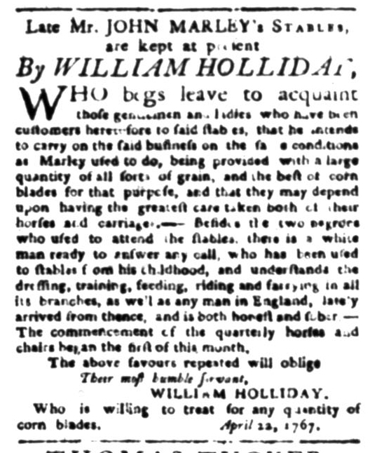 Jun 1 - South Carolina Gazette Supplement Slavery 1