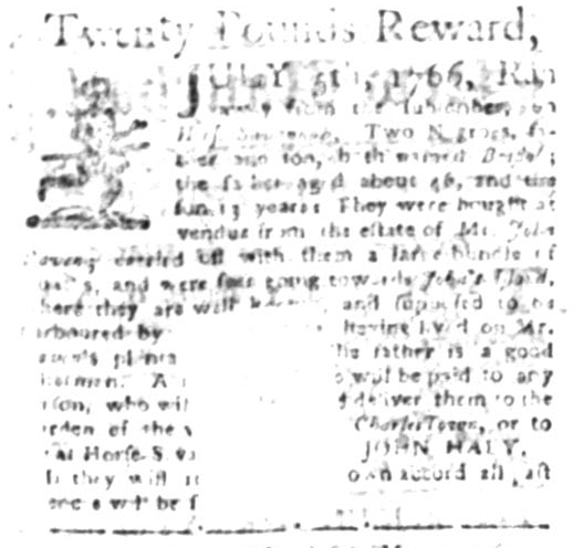 Jun 1 - South Carolina Gazette Supplement Slavery 5