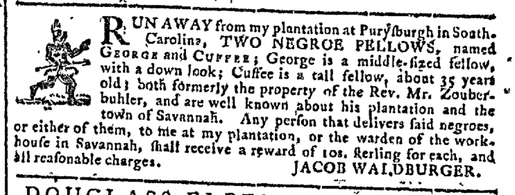 Jun 10 - Georgia Gazette Slavery 1