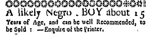 Jun 4 - Massachusetts Gazette Slavery 1