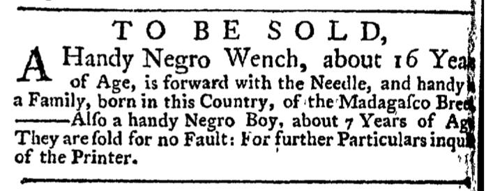 Jun 4 - New-York Gazette Weekly Post-Boy Slavery 2