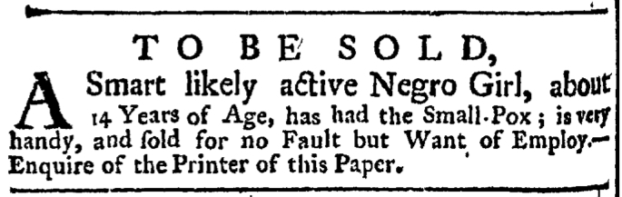 Jun 4 - New-York Gazette Weekly Post-Boy Slavery 3