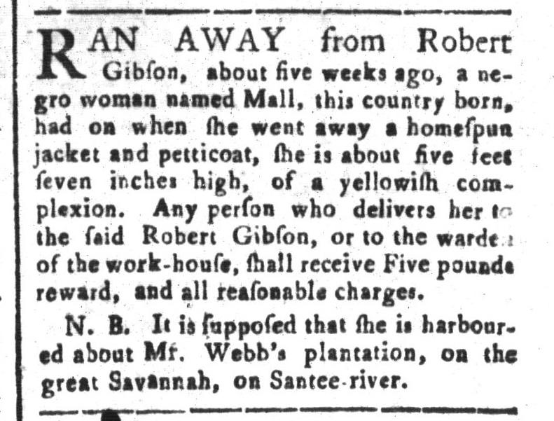 Jun 5 - South-Carolina and American General Gazette Slavery 10