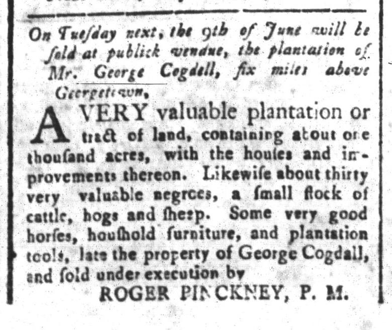Jun 5 - South-Carolina and American General Gazette Slavery 8