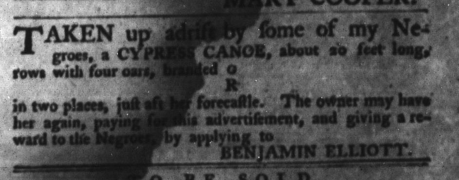 Jun 9 - South-Carolina Gazette and Country Journal Slavery 2