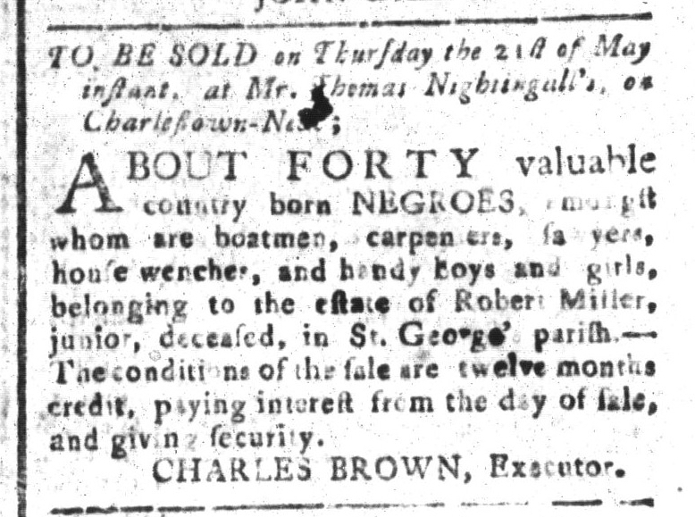 May 1 - South-Carolina and American General Gazette Slavery 11