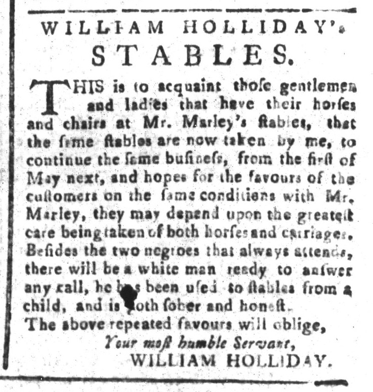 May 1 - South-Carolina and American General Gazette Slavery 12