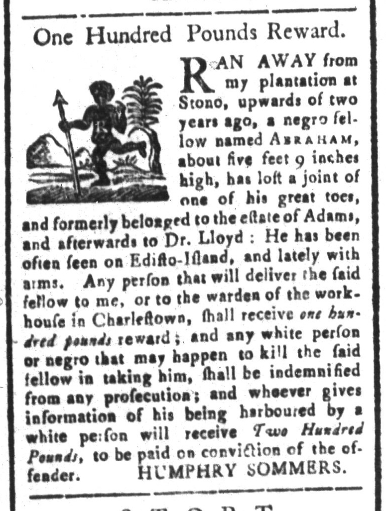 May 1 - South-Carolina and American General Gazette Slavery 2
