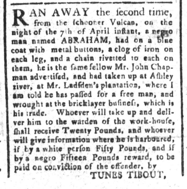 May 1 - South-Carolina and American General Gazette Slavery 5