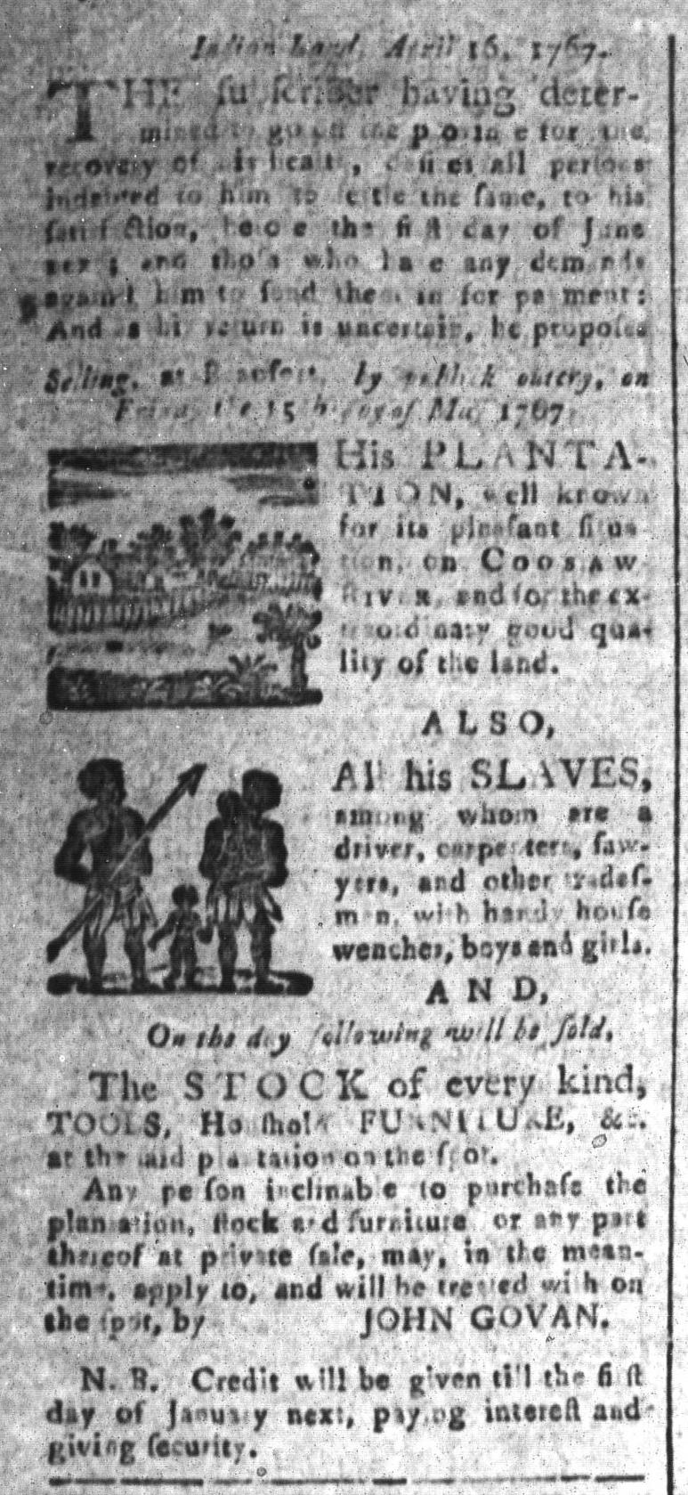 May 1 - South-Carolina and American General Gazette Slavery 7