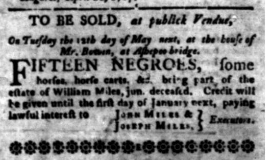 May 11 - South Carolina Gazette Slavery 13