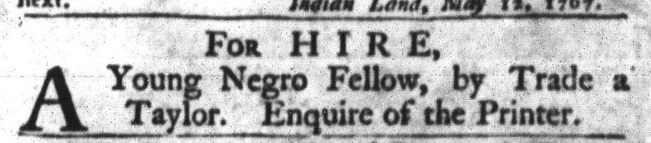 May 12 - South-Carolina Gazette and Country Journal Slavery 12