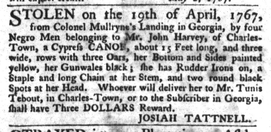 May 12 - South-Carolina Gazette and Country Journal Slavery 13