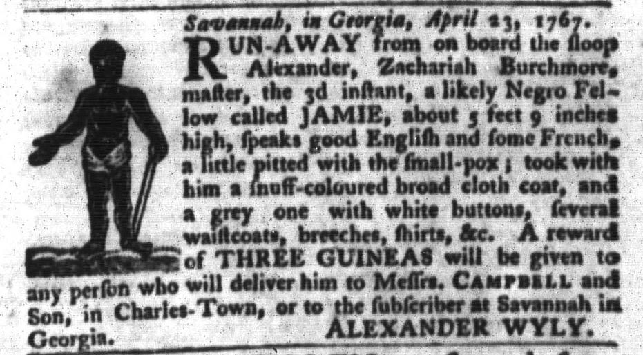 May 12 - South-Carolina Gazette and Country Journal Slavery 2
