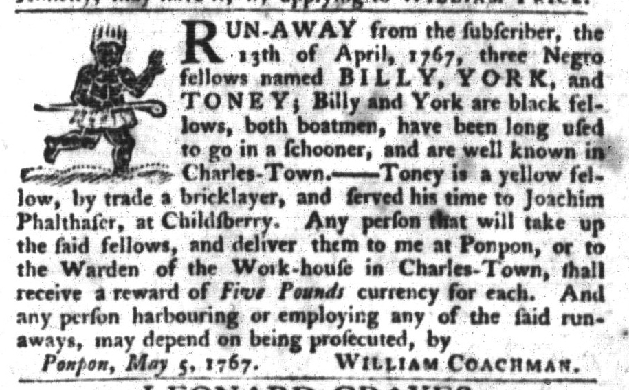 May 12 - South-Carolina Gazette and Country Journal Slavery 8