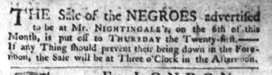 May 12 - South-Carolina Gazette and Country Journal Slavery 9