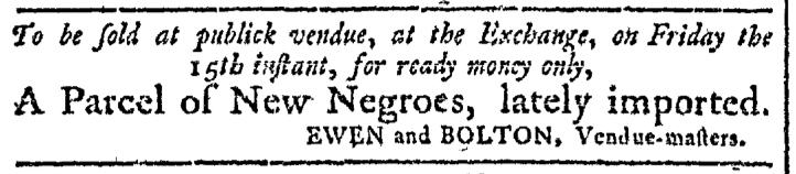 May 13 - Georgia Gazette Slavery 1