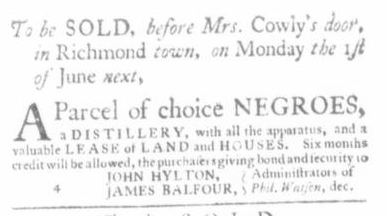 May 14 - Virginia Gazette Slavery 3