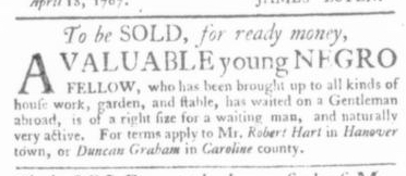 May 14 - Virginia Gazette Slavery 6