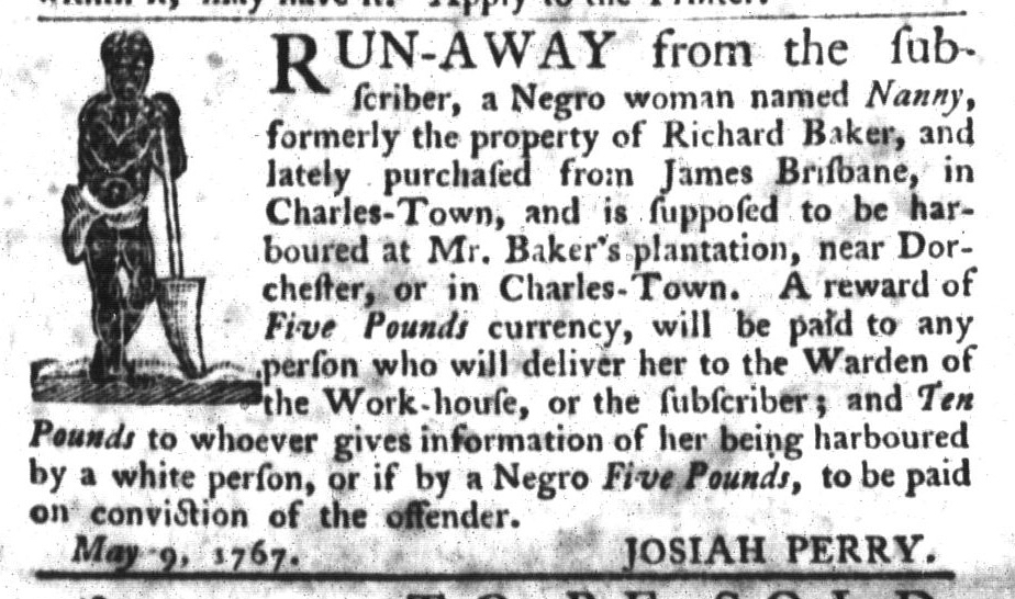 May 19 - South-Carolina Gazette and Country Journal Slavery 16
