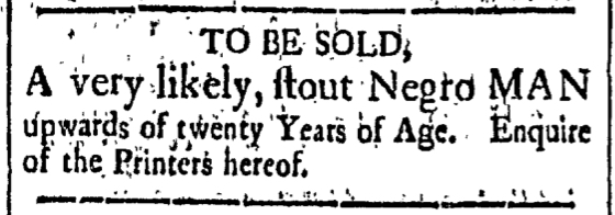May 22 - New-Hampshire Gazette Slavery 1