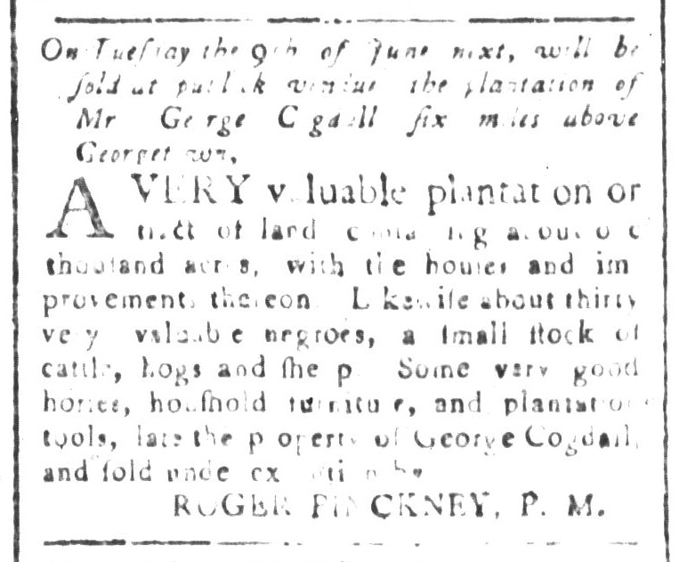 May 22 - South-Carolina and American General Gazette Slavery 1