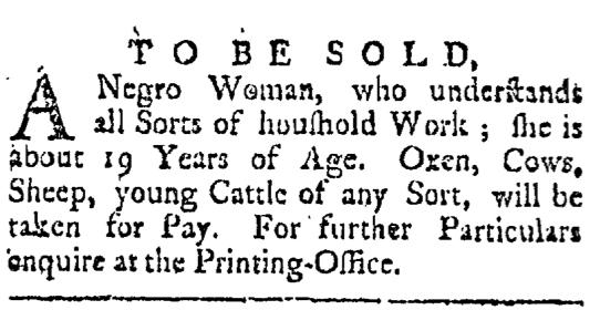 May 23 - Providence Gazette Slavery 2