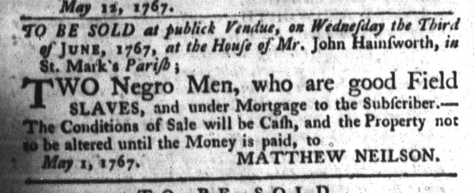 May 26 - South-Carolina Gazette and Country Journal Slavery 6