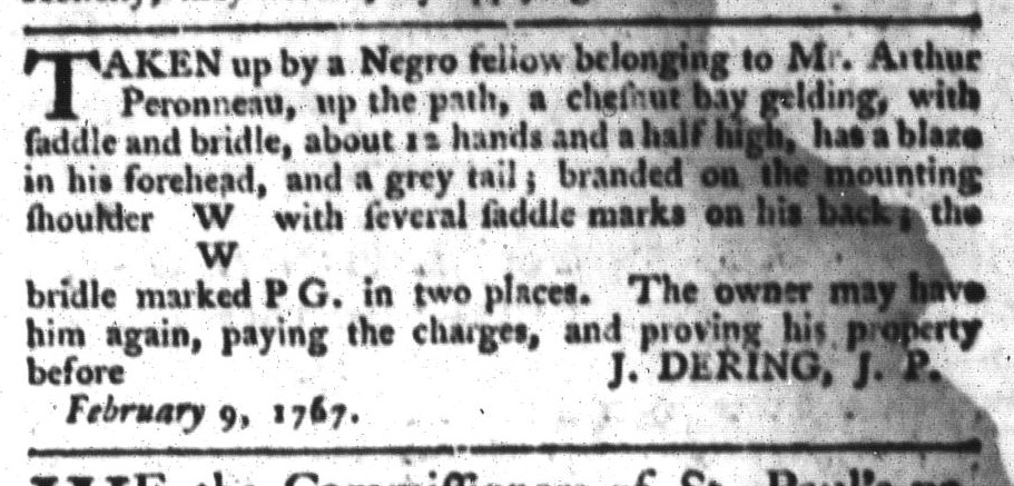 May 26 - South-Carolina Gazette and Country Journal Supplement Slavery 12