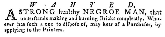 May 28 - Pennsylvania Gazette Supplement Slavery 3