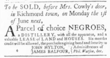 May 28 - Virginia Gazette Slavery 4