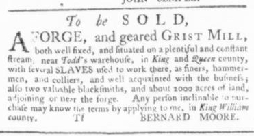 May 28 - Virginia Gazette Slavery 5