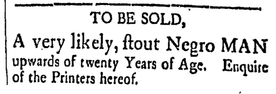 May 29 - New-Hampshire Gazette Slavery 1