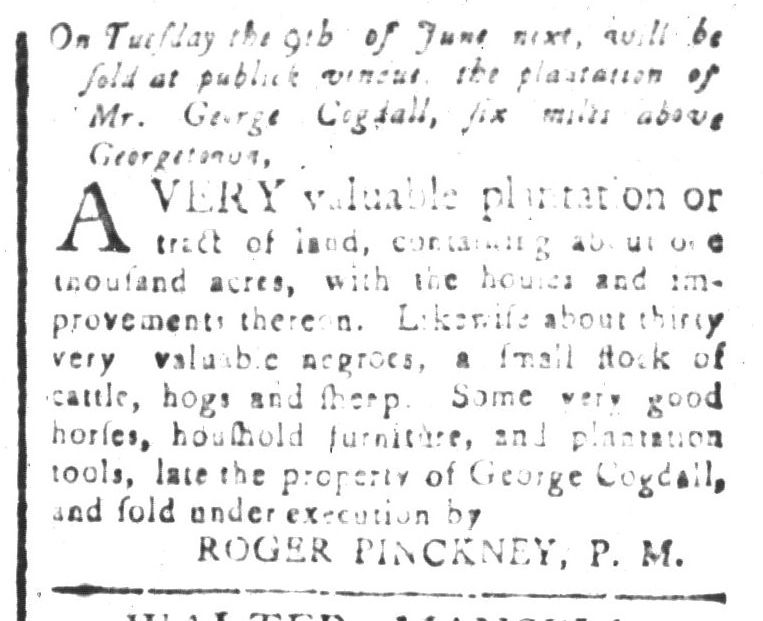 May 29 - South-Carolina and American General Gazette Slavery 6