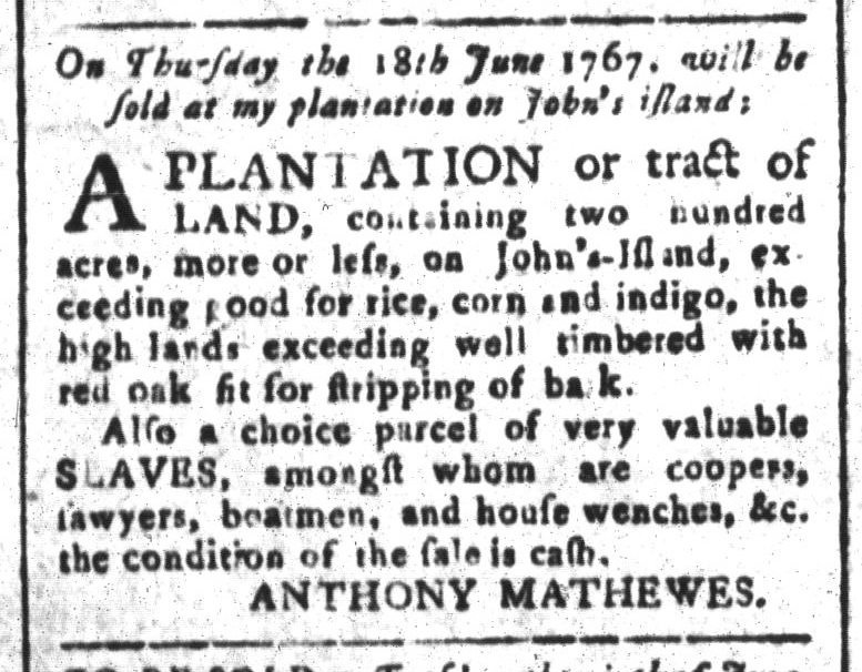 May 29 - South-Carolina and American General Gazette Slavery 9