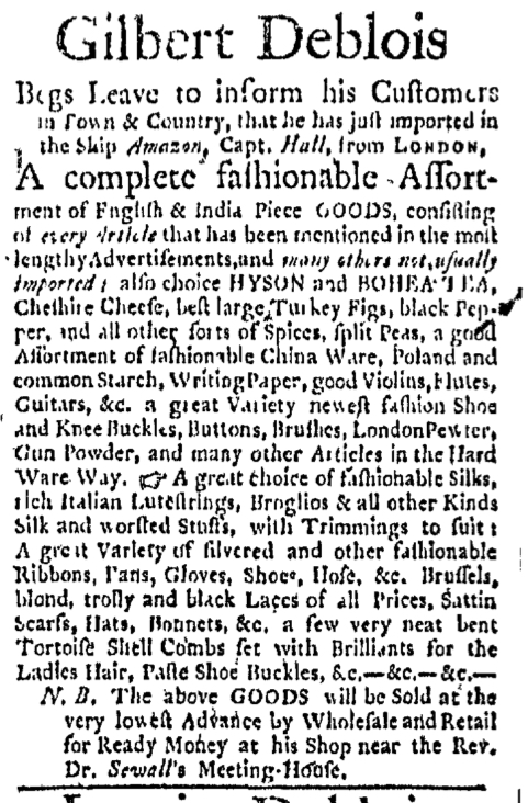 May 4 - 5:4:1767 Boston Evening-Post