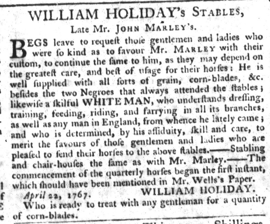 May 5 - South-Carolina Gazette and Country Journal Supplement Slavery 14