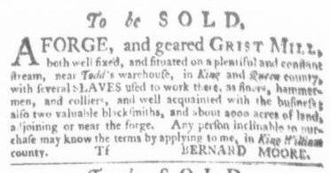 May 7 - Virginia Gazette Slavery 7