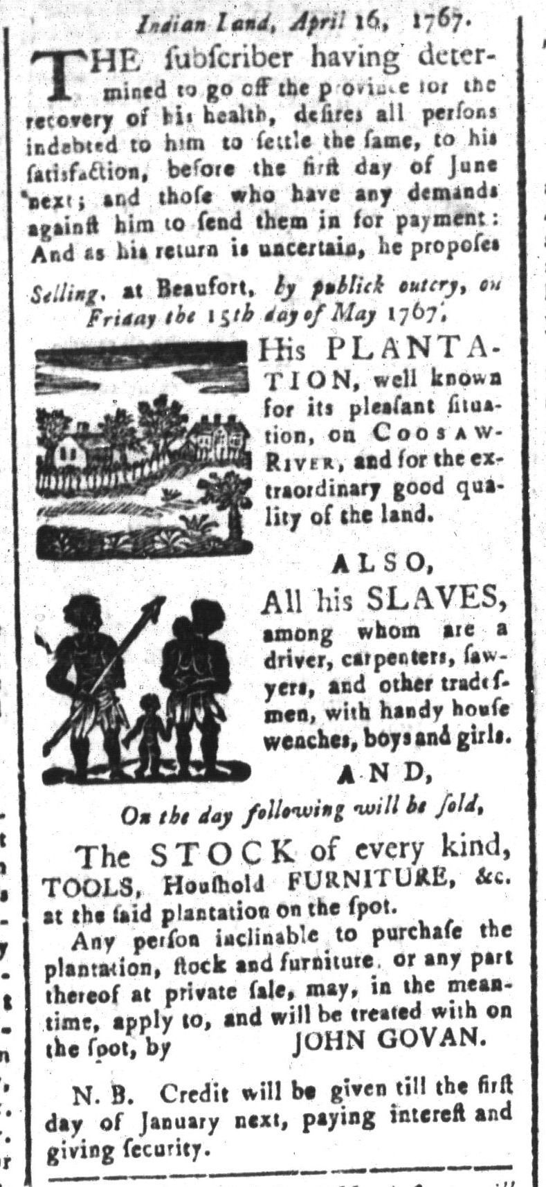May 8 - South-Carolina and American General Gazette Slavery 6