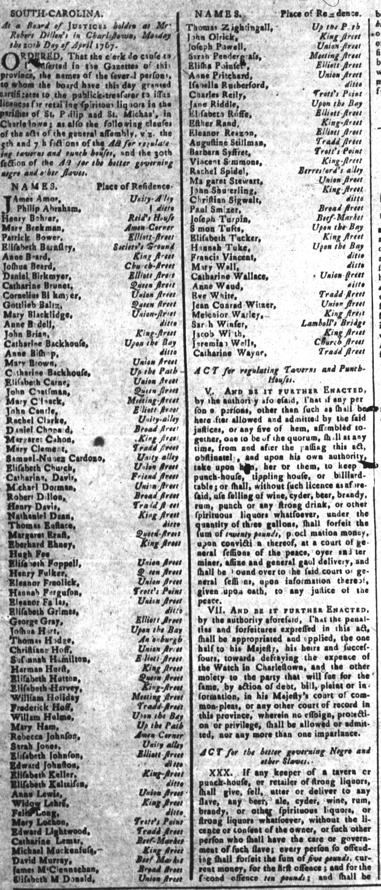 May 8 - South-Carolina and American General Gazette Slavery 8A