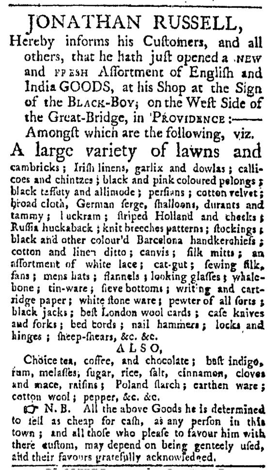 May 9 - 5:9:1767 Providence Gazette
