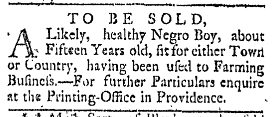 May 9 - Providence Gazette Slavery 3