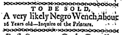 Jul 13 - Boston-Gazette Slavery 1