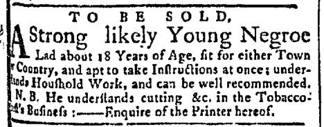 Jul 13 - New-York Gazette Slavery 1
