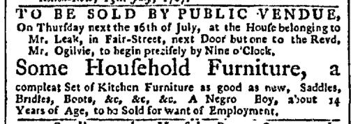 Jul 13 - New-York Gazette Slavery 2