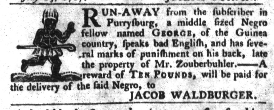 Jul 14 - South-Carolina Gazette and Country Journal Slavery 1