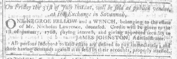 Jul 15 - Georgia Gazette Slavery 2