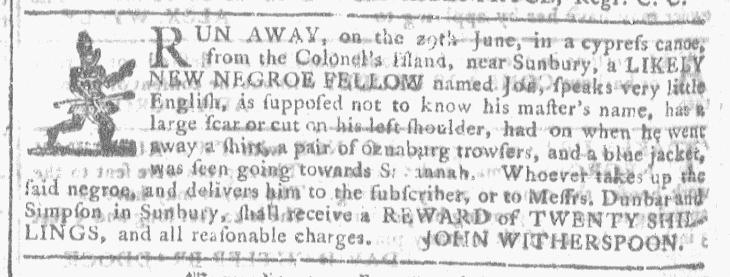 Jul 15 - Georgia Gazette Slavery 3